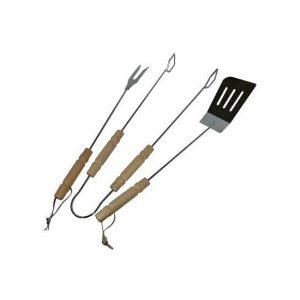 Goedkope BBQ set vork, spatel en tang